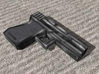 Half Life 9mm Pistol Papercraft