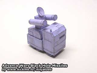 Advance Wars Black Hole Rocket Missile Papercrafts