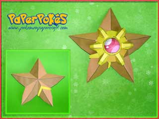 Pokemon Staryu Papercraft