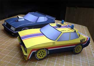 Mad Max Yellow Interceptor Papercraft Car