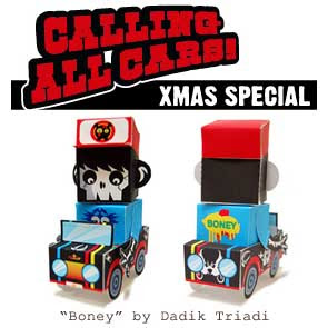 Calling All Cars Paper Toy Xmas Special