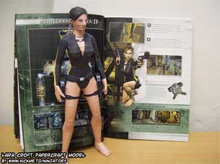 Lara Croft Wet Suit Papercraft