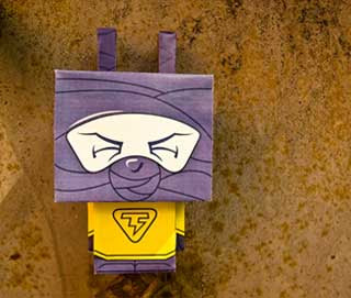 Ninja Bunny Paper Toy