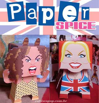 Spice Girls Papercraft Scary Ginger