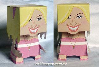 High School Musical Papercraft Sharpay Evans