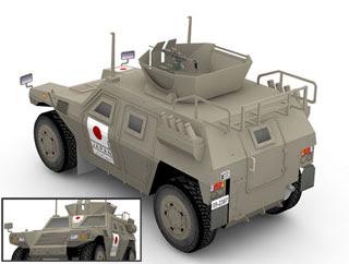 JGSDF Komatsu LAV Papercraft