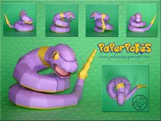 Pokemon Ekans Papercraft