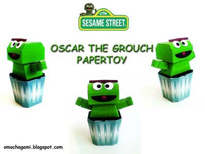 Oscar the Grouch Paper Toy
