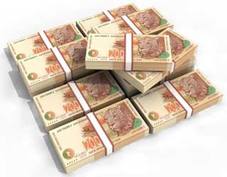 South African Rand Banknote Papercraft