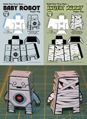 Monster ALien Robot Paper Toy