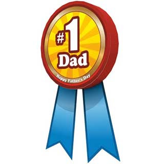 Father's Day Badge Papercraft