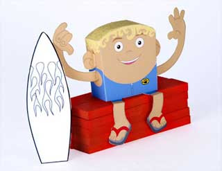Surfer Papercraft