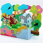 Forest Animals Papercraft Dioaram