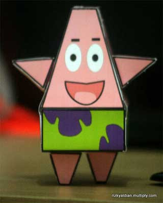 Patrick Star Paper Toy