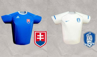 2010 World Cup Futbol Jersey Papercraft Slovakia South Korea