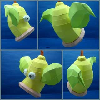 Pokemon Weepinbell Papercraft