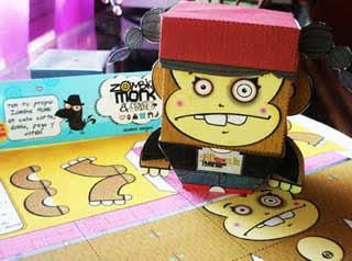 ZombieMonk Paper TOy