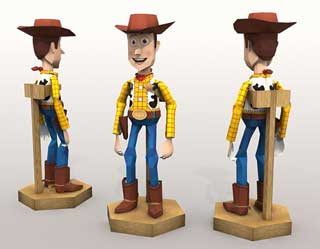 Toy Story Sheriff Woody Papercraft