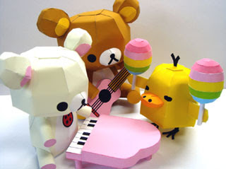 Relax Bear Papercraft Rainbow Musical