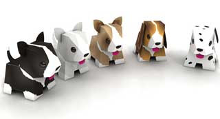 Animal Friends Joga Puppy Paper Toys