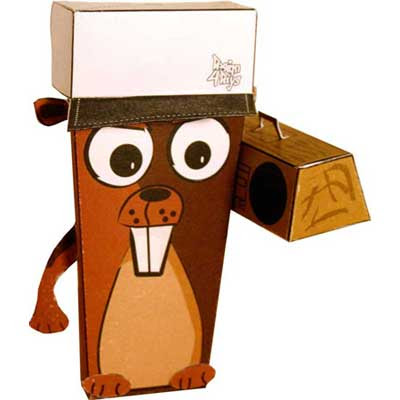 Urban Beaver Papercraft