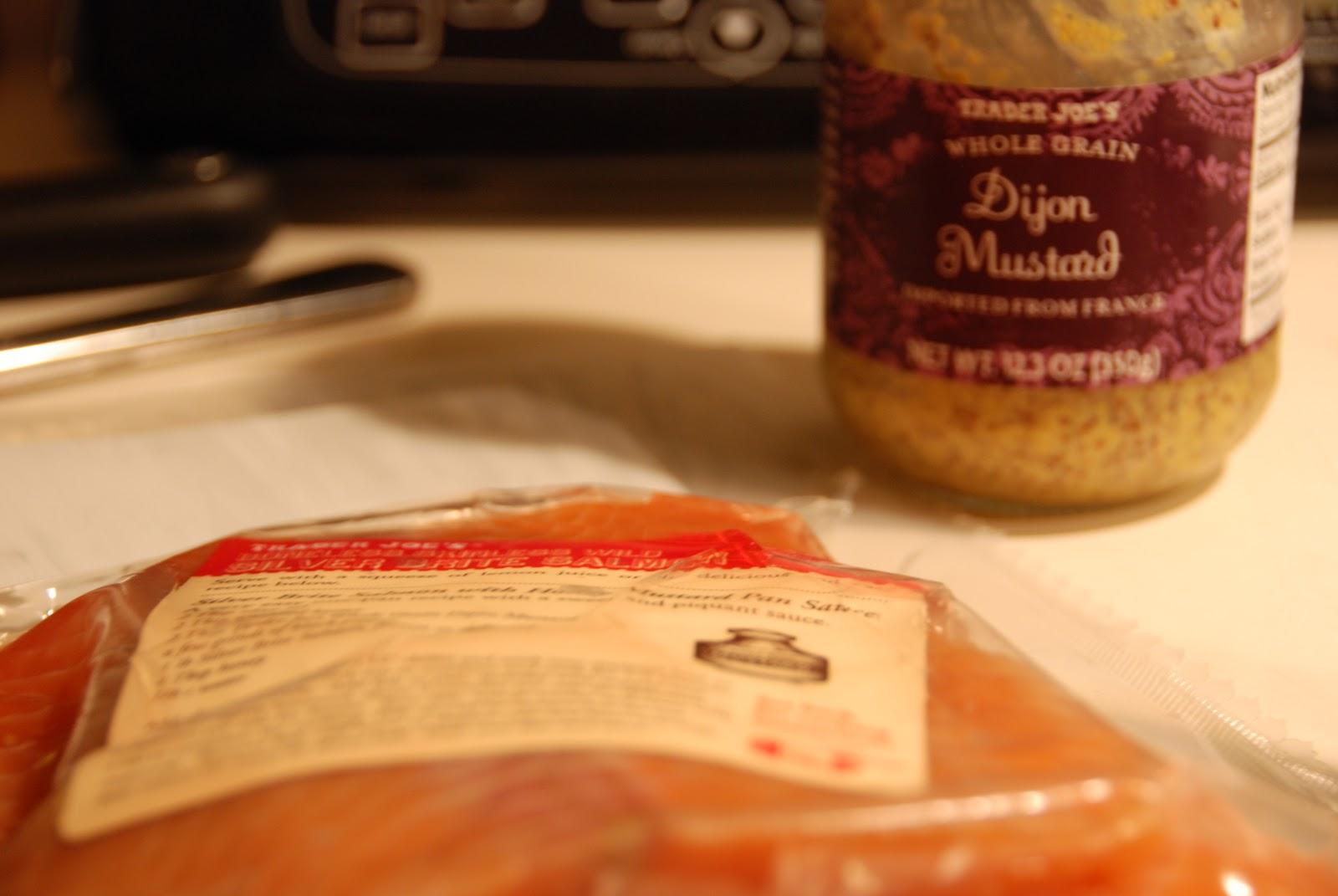 krismulkey.com: Salmon with Honey Mustard Pan Sauce