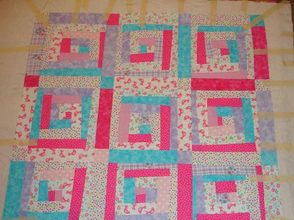 update on Kiah's quilt