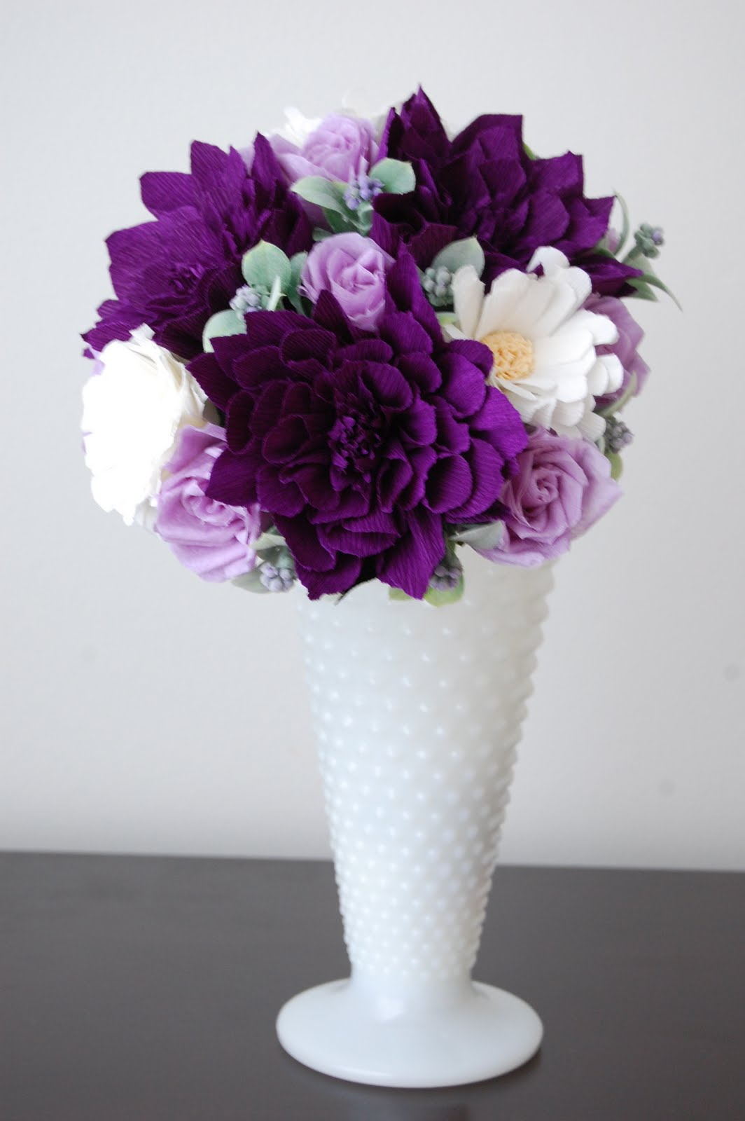 Purple Dahlia Bouquet petite | Handmade PaPer FloweRs by Maria Noble