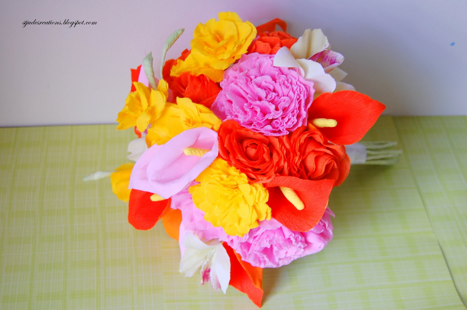 First anniversary gift for lee handmade paper flowers by