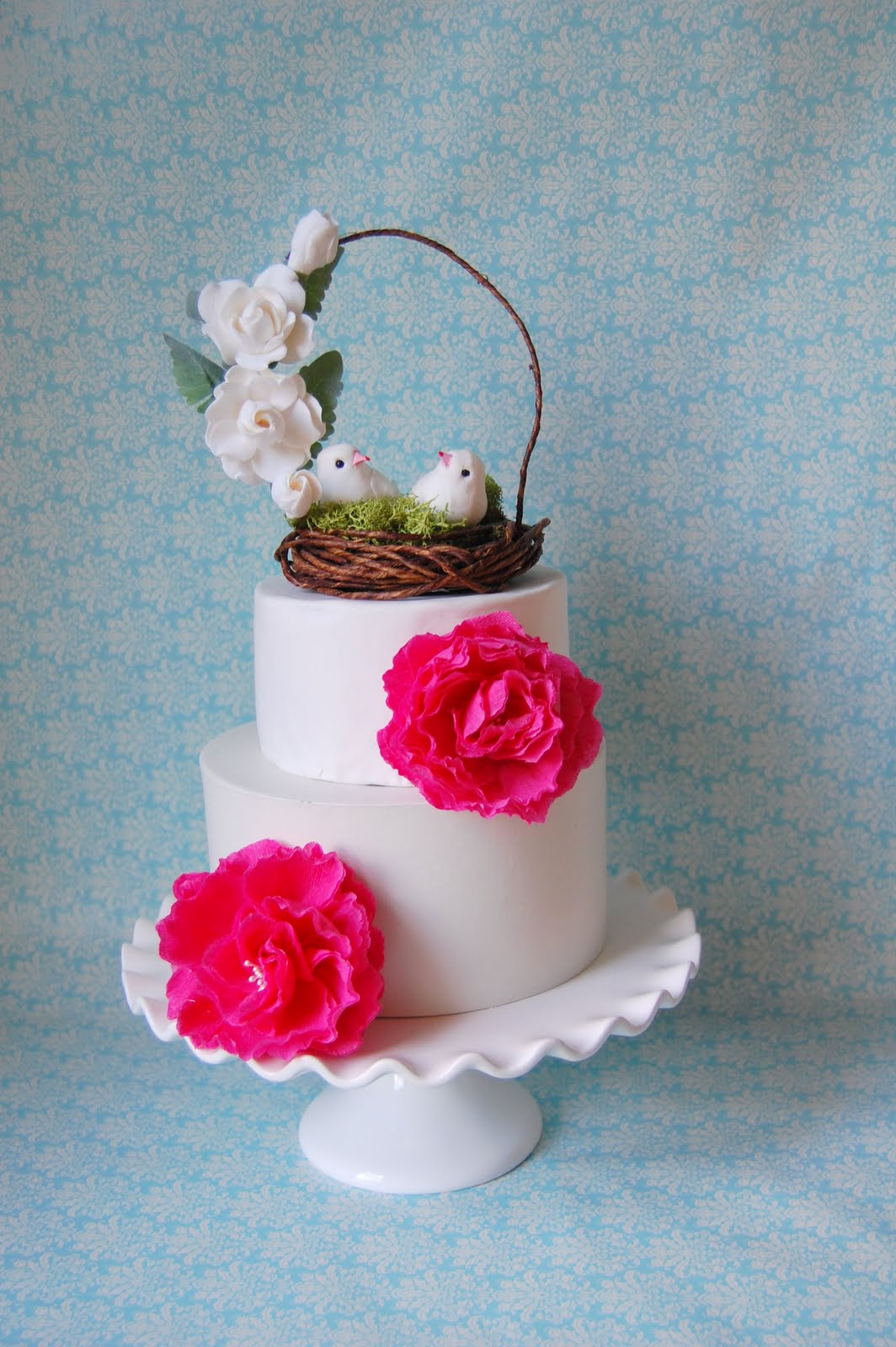 wedding cake topper - woodland Handmade PaPer FloweRs by ...