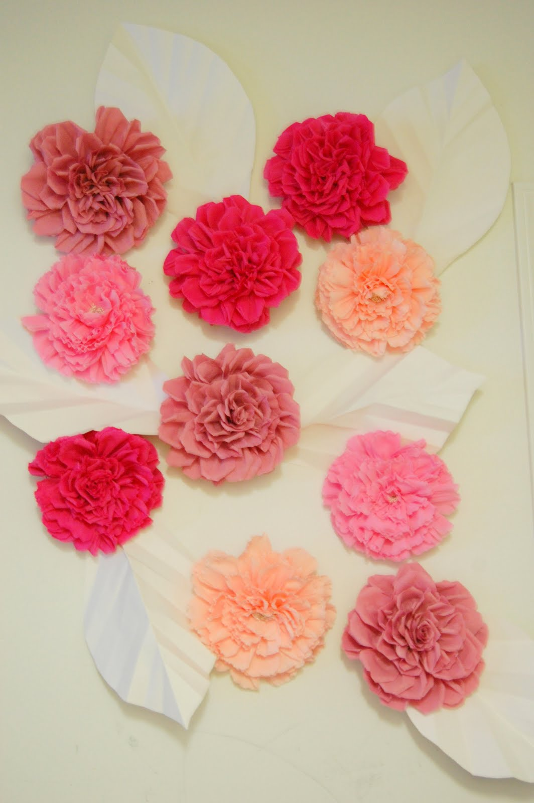 large chanel paper flower wall inspired
