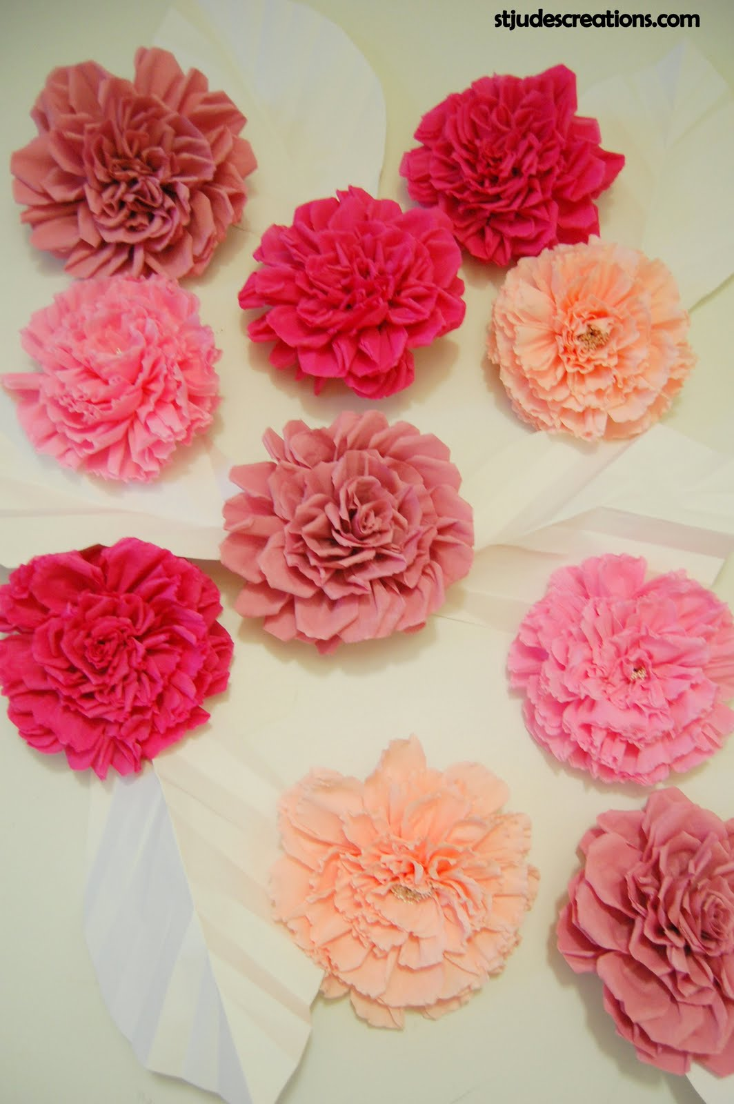 Chanel Inspired Large Paper Flower Wall Backdrop Handmade Paper