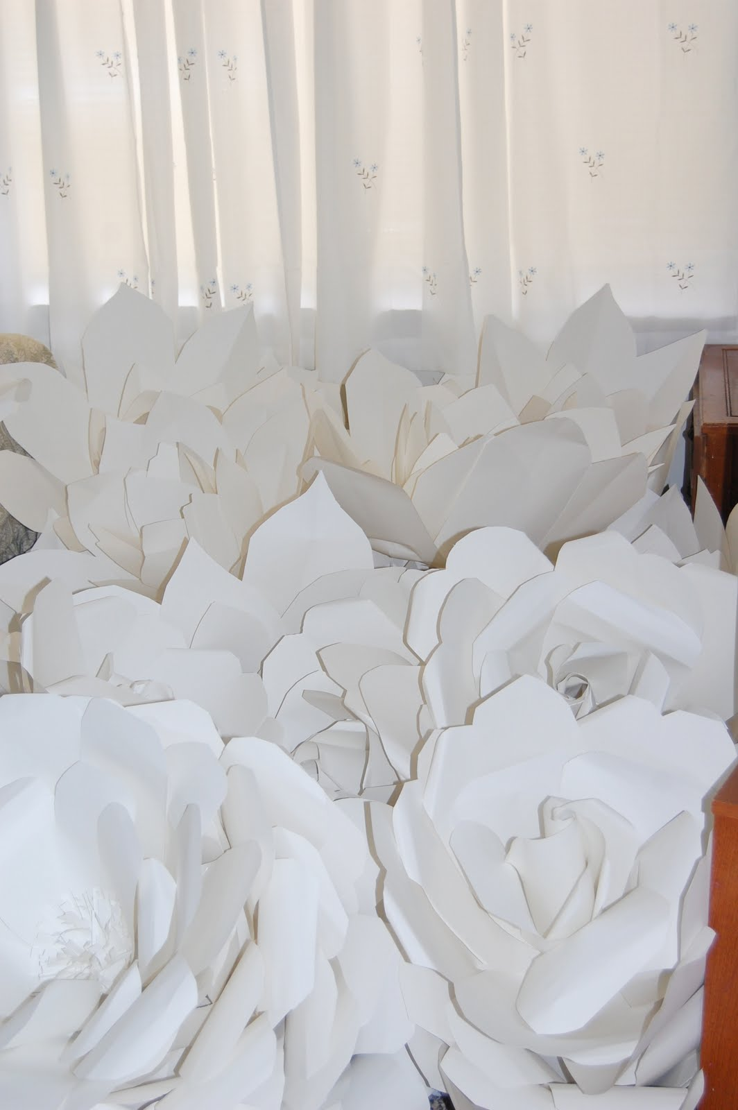 Large Chanel Paper Flower Wall Inspired Wedding Backdrop Wall For