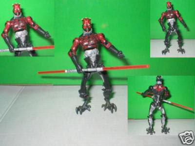 Star Wars Basic Action Figures: Darth Maul Cyborg Darth Maul custom action