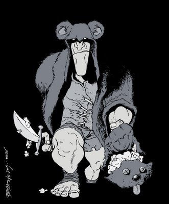 Teddy Bear Slayer t-shirt by Marcelo Braga on sale here.