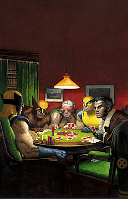 Wolverines playing poker by C.M. Coolidge by Paolo Rivera.