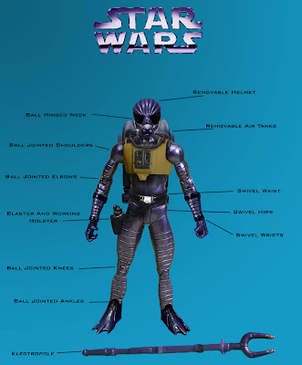 A small sampling of the esoteric custom Star Wars action figures by