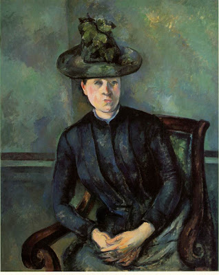 Cézanne: Portrait of a Woman in Green Hat (Mme Cézanne) (1894-95)