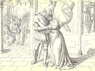 Joseph Ritter von Führich. Graf Siegfried nimmt Abschied von seiner Gemahlin Genoveva
