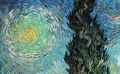 Van Gogh. Starry night detail tree