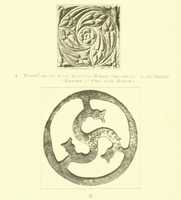 late gothic ornament. Worringer. Form Problems of the Gothic. plate 8a b