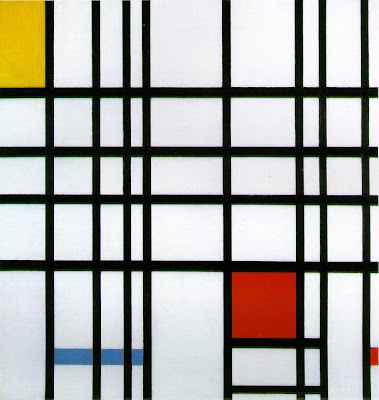 Mondrian Composition with Yellow, Blue and Red