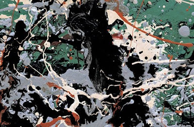 Jackson Pollock. Detail of Untitled Green Silver
