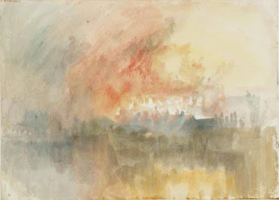 Turner. The Burning of the Houses of Parliament 1834