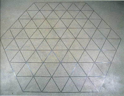 Carl André. 4-Segment Hexagon 1974