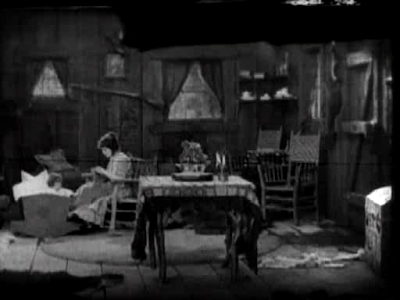 Buster Keaton. Our Hospitality. woman in room