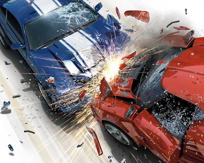 auto collision impact explosion