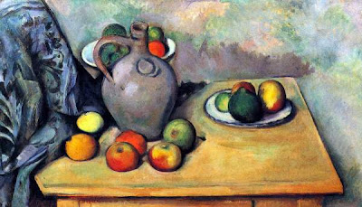 Cézanne. Still Life, Fruit and Pitcher on Table