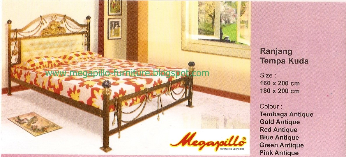 ... Furniture and Spring Bed Online Shop: Ranjang Besi - Tempa Kuda