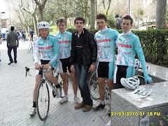 Con el equipo de Ávila